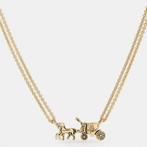 New on box Coach Double Strand Horse and carriage
